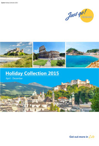 Just Go! Holidays brochure