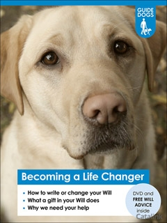 Help people with sight loss by leaving guide dogs a gift