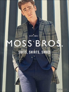 Moss Bros mens suits and menswear